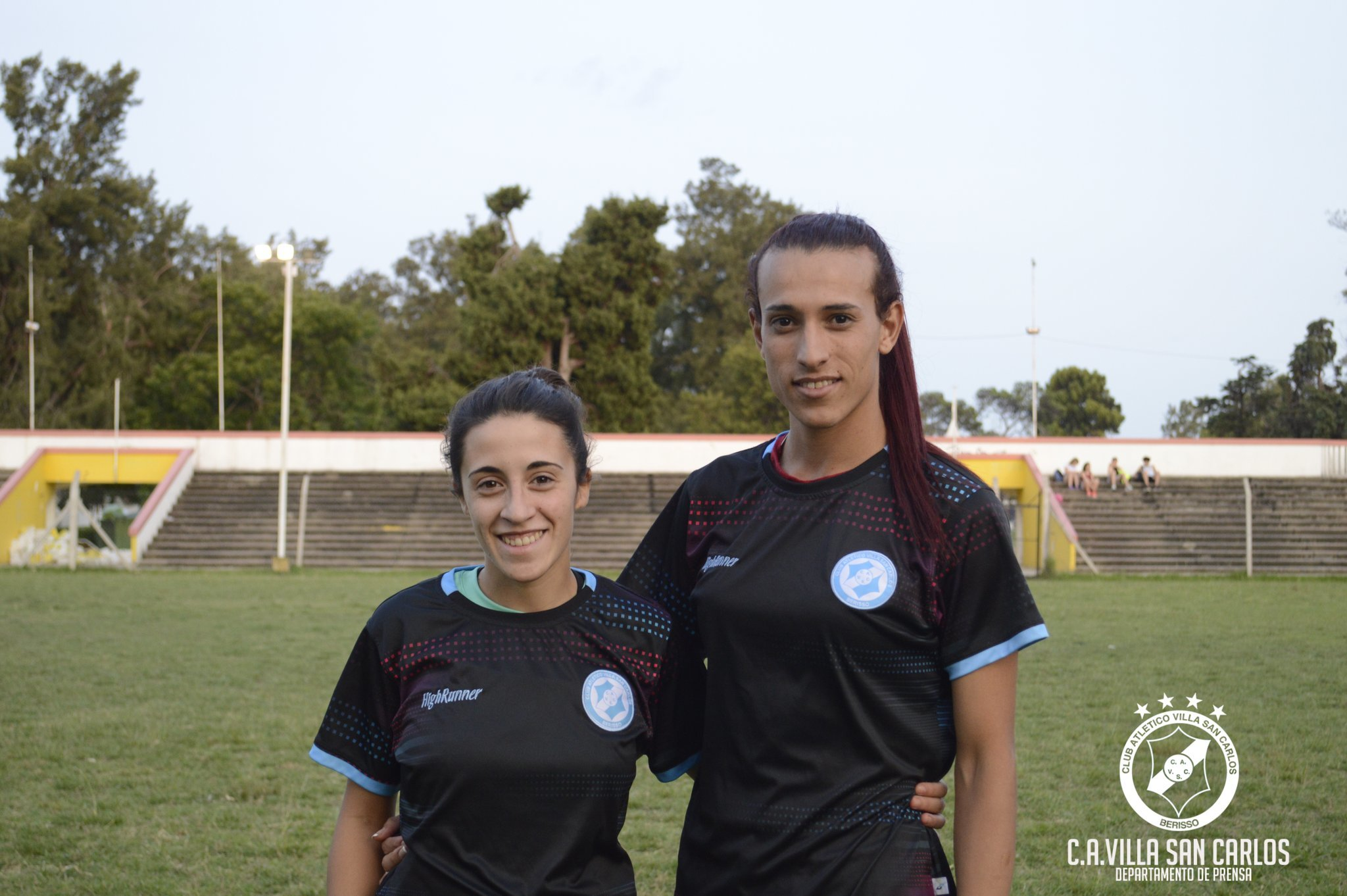 Mara Gómez en su presentación como jugadora del Villa San Carlos