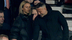 Ryan Giggs at Old Trafford with Hellen Stelling Holt
