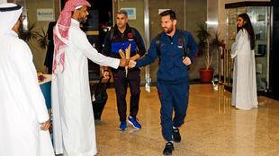 Messi, a su llegada a Arabia Saudita