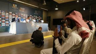 Rueda de prensa ayer de Gayà en Arabia Saudí