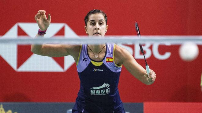 Carolina Marín, durante un torneo.
