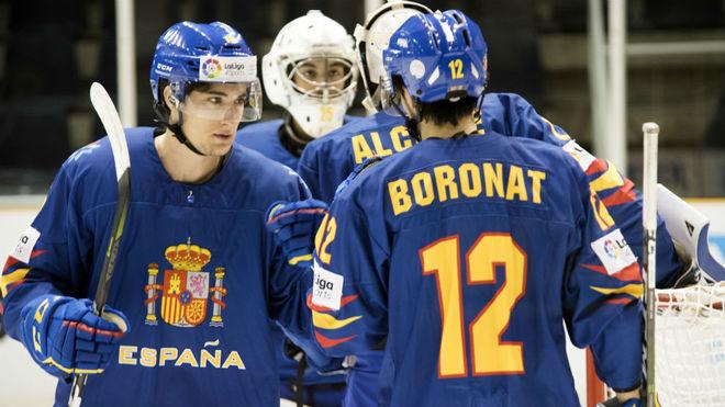 El equipo española, durante un encuentro