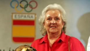 Doña Pilar de Borbón, durante un acto del Comité Olímpico Español...