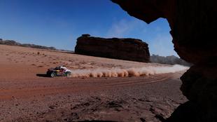 Carlos Sainz durante la etapa 3 del Rally Dakar.