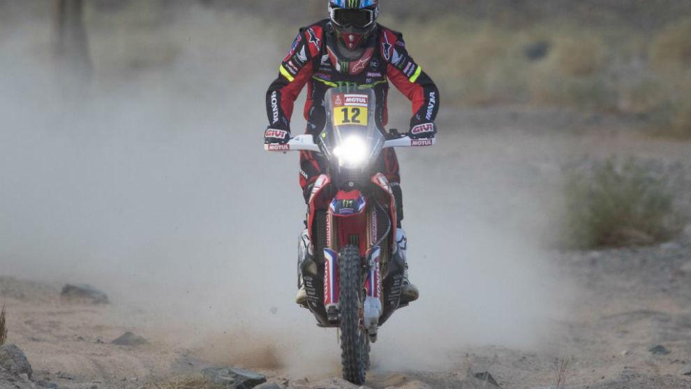 Barreda, durante la cuarta etapa del Dakar.