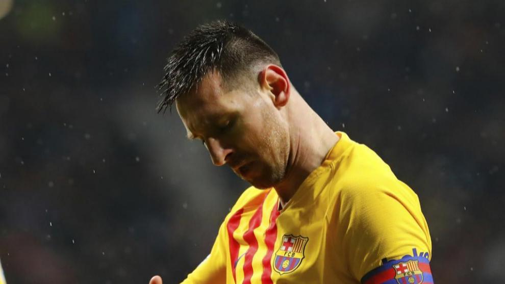 Messi en un encuentro del Barcelona.