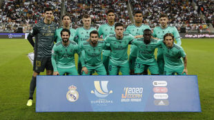 El once del Madrid que se enfrentó ayer al Valencia.