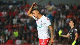 Mauro Quiroga, en un partido del Necaxa.