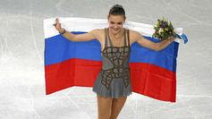 Adelina Sotnikova tras ganar la medalla de oro en Sochi 2014.