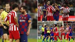 Joao Félix, encarado con Messi, Suárez, Busquets...