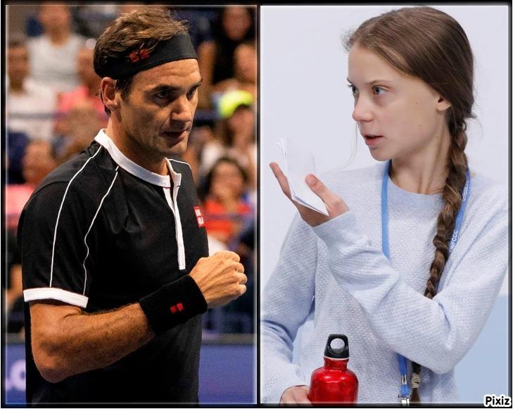 Greta Thunberg arremetió contra Roger Federer: los motivos