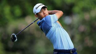 Collin Morikawa (22 años) durante la primera jornada del Sony Open.