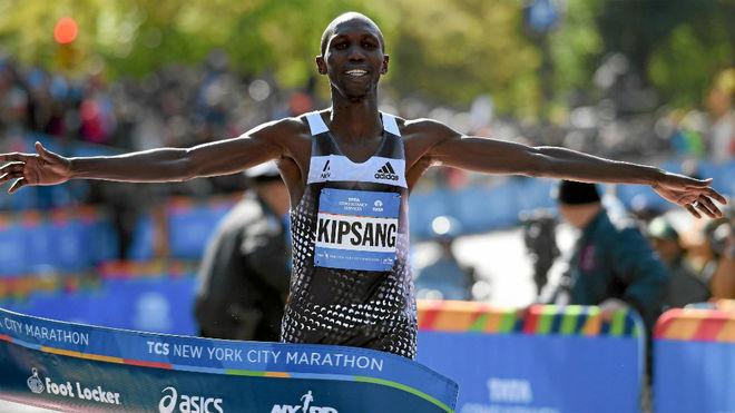 El keniata Wilson Kipsang, en carrera