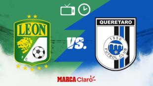 Leon vs Queretaro en vivo el partido de hoy de la jornada 1