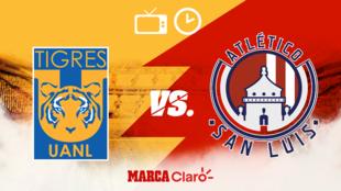 Tigres vs San Luis en vivo el partido de la jornada 1