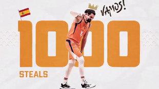 Montaje de los Suns para celebrar los 1.000 robos de balón de Ricky...