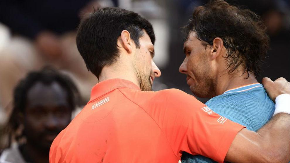 Djokovic y Nadal, tras su último partido en el Foro Itálico de Roma