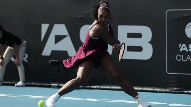 Serena Williams en su duelo con Anisimova.