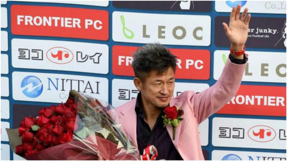 Kazu Miura, en su 50 cumpleaños.