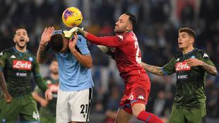 El portero David Ospina cometió un error que le costó la derrota al...
