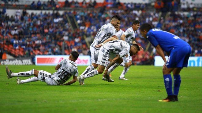 El Atlas celebrando el gol de la victoria.