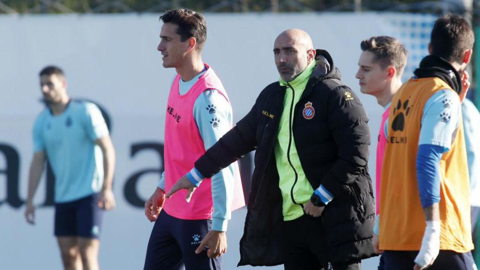 Abelardo, durante una sesión en el RCDE Stadium