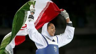 Kimia Alizadeh, durante los Juegos de Río