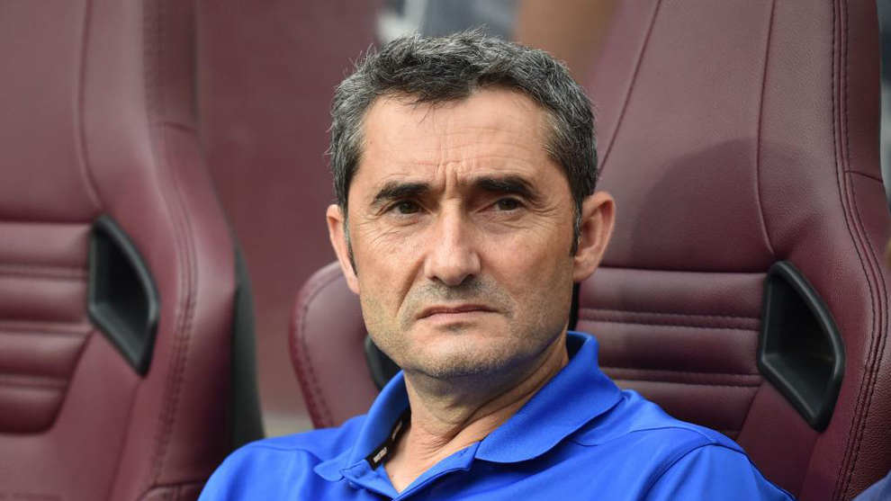 Valverde, en un partido de esta temporada con el Barça
