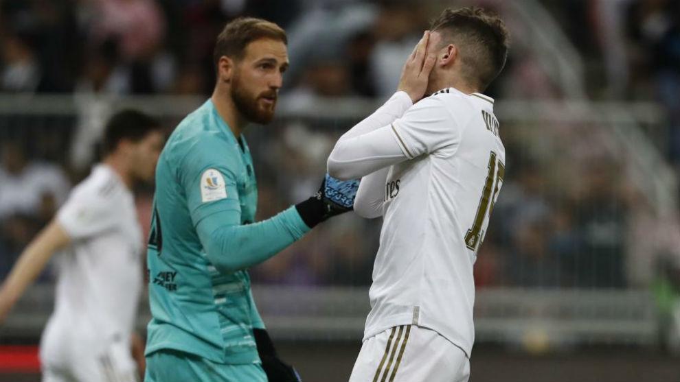 Oblak, ante el Real Madrid.