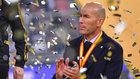 Zinedine Zidane, tras ganar la Supercopa.