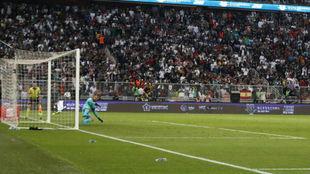 Oblak, en la tanda de penaltis.