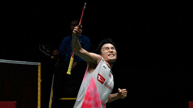 Kento Momota, tras ganar este domingo el Masters de Malasia.