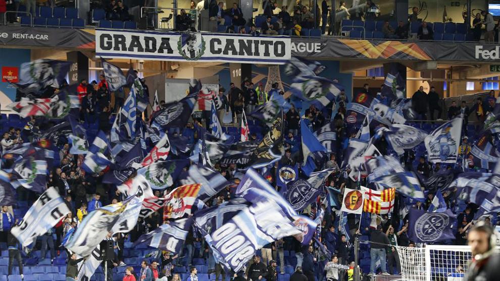 La grada Canito, en el RCDE Stadium.