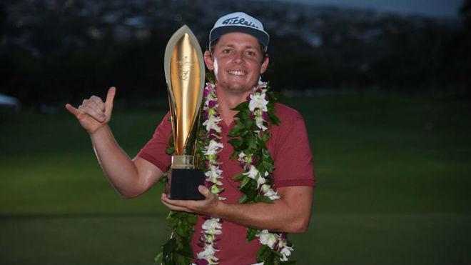 Cameron Smith tras ganar el Sony Open en Hawai.