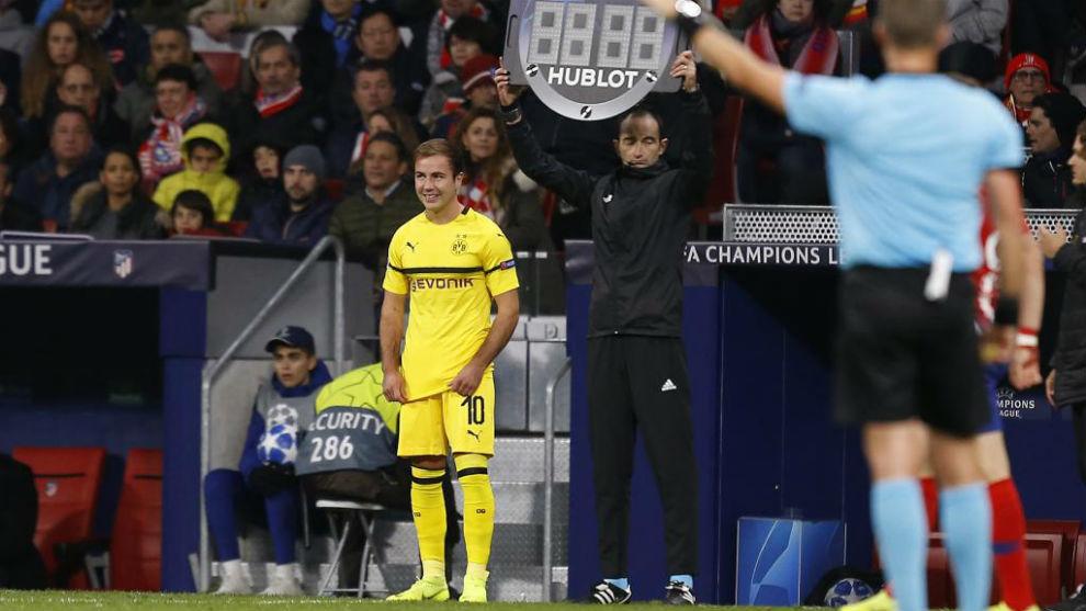 Götze, en un partido de Champions de la pasada temporada.