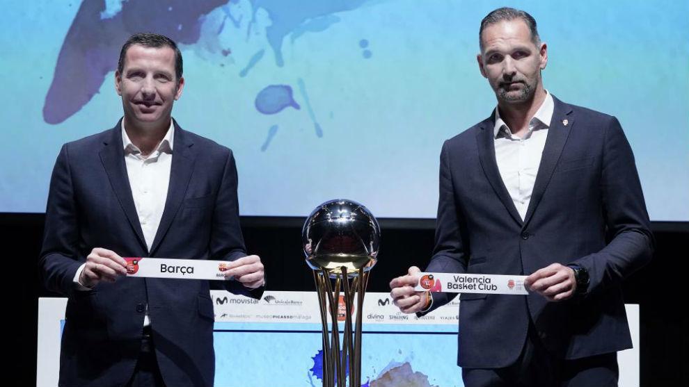 Nacho Rodríguez y Víctor Luengo, durante el sorteo de la Copa del...