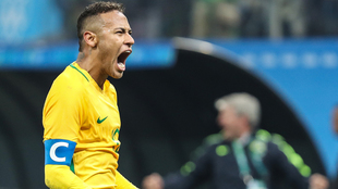 Neymar en los Juegos Olímpicos de Rio 2016.