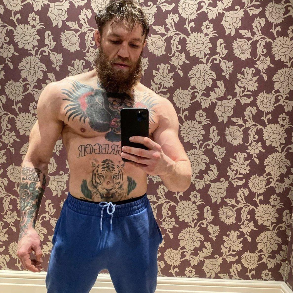 Conor McGregor ofreció esta imagen en sus redes sociales el pasado 30...