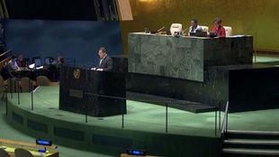 Momento de la presentación de la propuesta del Día Mundial del...
