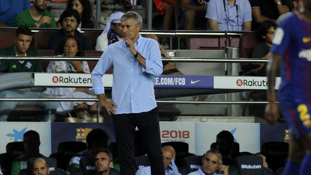 Setién, en un Betis-Barça.