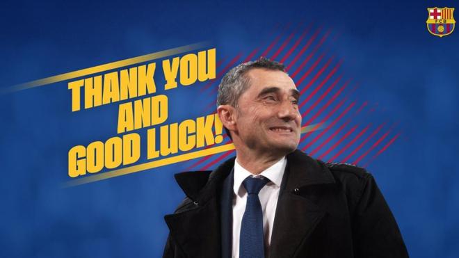 El Barcelona le deseó suerte.