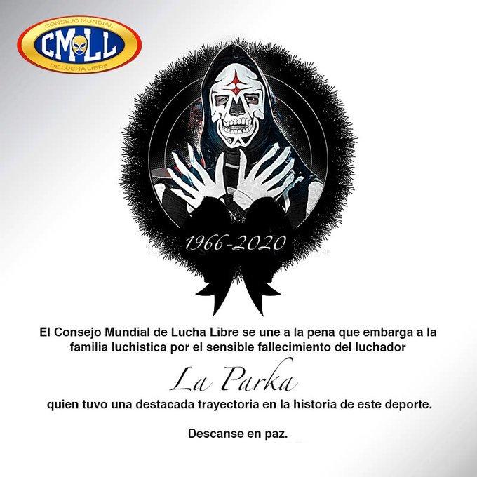 Muere La Parka, mítico luchador de la Lucha Mexicana que sufrió una...