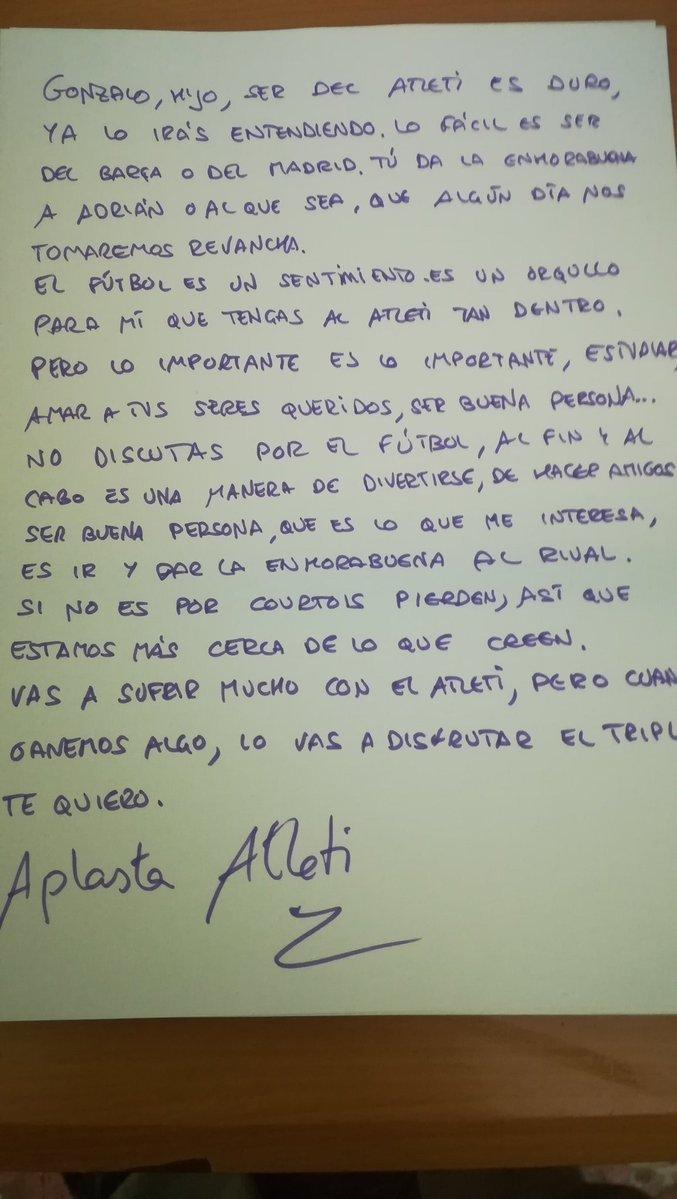 Carta viral del tuitero Aris de Burgos a su hijo tras la derrota del...