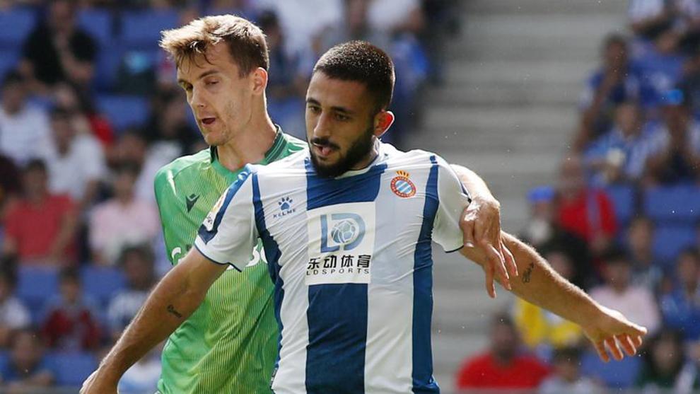 Vargas, durante el partido de LaLiga contra la Real Sociedad en el...