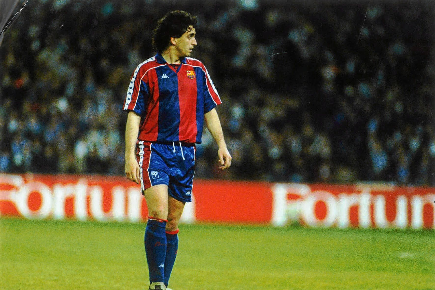 Pablo Alfaro, en su etapa de jugador del Barcelona la temporada 92/93