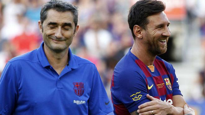 El mensaje de despedida de Leo Messi a Ernesto Valverde