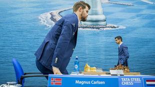 Magnus Carlsen, en el Tata Steel Chess.