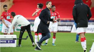 Robert Moreno, tras el partido de Copa ante el Reims que ganó el...