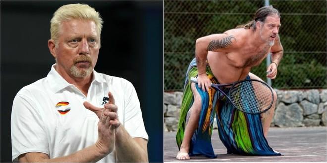Boris Becker y el hippy George Berres, uno de los que ocupó su casa.