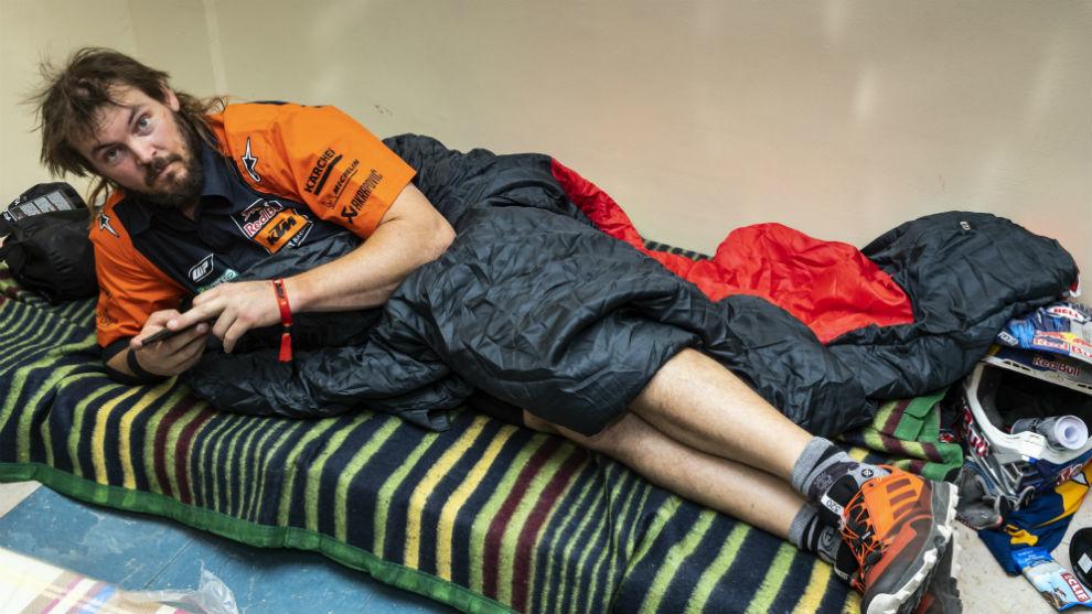 Toby Price, durante la etapa maratón del año pasado.